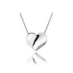 Hot Diamonds - Sterling silver 'Simply Sparkle Solid Heart' pendant