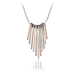 Hot Diamonds - Sterling silver and 18ct rose gold plated 'Icicle Statement' necklace