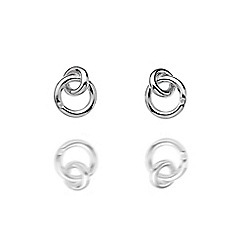 Hot Diamonds - Sterling silver 'Eternity Interlocking' earrings