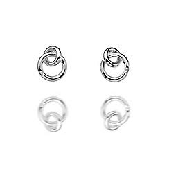 Hot Diamonds - Sterling silver 'Eternity Interlocking' earrings