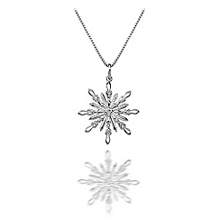 Hot Diamonds - Sterling silver 'Winter Wonderland Snowflake' pendant
