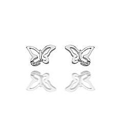 Hot Diamonds - Sterling silver 'Flutter Micro' earrings