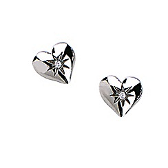 Hot Diamonds - Sterling silver 'Giselle Heart' earrings