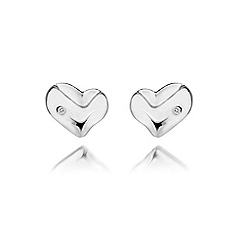 Hot Diamonds - Sterling silver 'Lunar Heart' earrings
