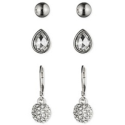 Nine West - Silver trio set of earrings
