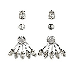 Nine West - Silver trio set of earrings