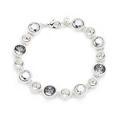 Nine West - Silver with clear crystal circle drop bracelet