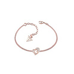 Guess - Rose Gold plated heart bracelet