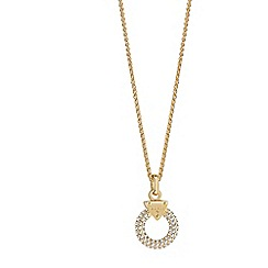 Guess - Gold plated circle lock necklace