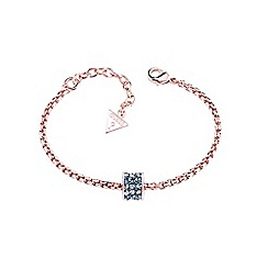 Guess - Rose gold plated charm bracelet