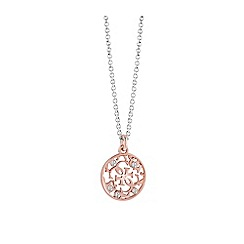 Guess - Rose Gold plated ornament disc necklace