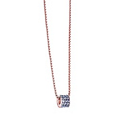 Guess - Rose Gold plated three row charm necklace