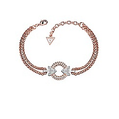 Guess - Rose Gold plated bracelet with circle lock