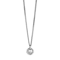 Guess - Rhodium plated neckalce with  heart pendant