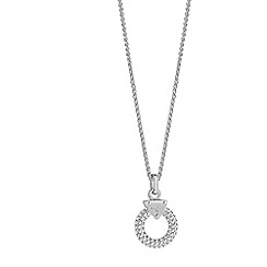 Guess - Rhodium plated circle lock necklace