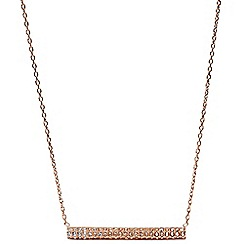 Fossil - Rose gold glitz bar necklace