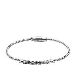 Fossil - Silver metallic flex bracelet