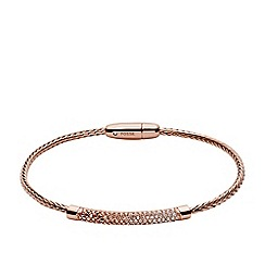 Fossil - Rose gold metallic flex bracelet