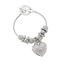 Lipsy - Silver pave heart bracelet
