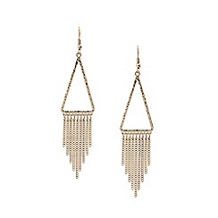 Lipsy - Silver pave fringe drop earrings