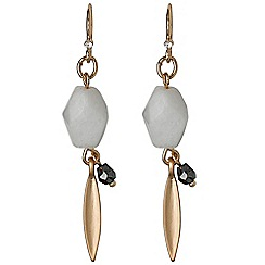 Pilgrim - Rose gold white earrings