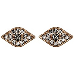 Pilgrim - Rose gold crystal earrings