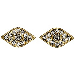 Pilgrim - Gold plated and crystal earrings