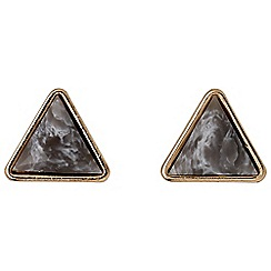 Pilgrim - Rose gold nude earrings