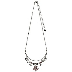 Pilgrim - Silver plated and rose necklace