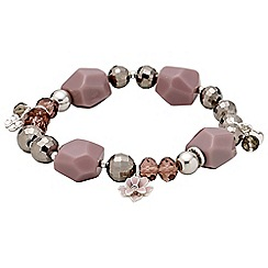 Pilgrim - Silver plated and rose bracelet