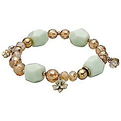 Pilgrim - Gold plated and green bracelet