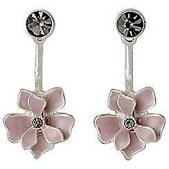 Pilgrim - Silver plated and rose earrings