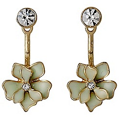 Pilgrim - Earrings gold plated green
