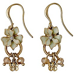 Pilgrim - Gold plated and green earrings