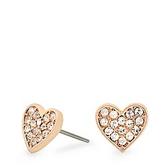 Pilgrim - Rose gold crystal earrings
