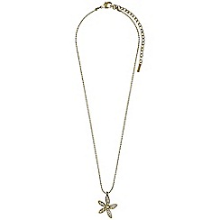 Pilgrim - Gold plated and crystal necklace