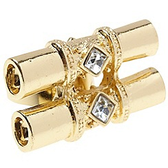 EB by Erickson Beamon - Gold double barrel ring