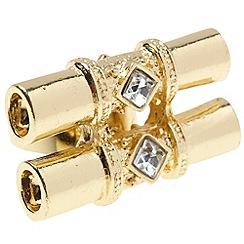 EB by Erickson Beamon - Gold double barrel ring
