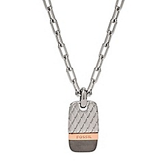 Fossil - Gents tri-tone necklace