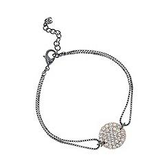 Pilgrim - Hematite and rose gold crystal bracelet