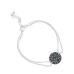 Pilgrim - Silver plated hematite black bracelet