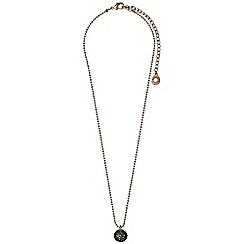 Pilgrim - Rose gold plated and hematite necklace