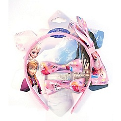 Disney Frozen - Pink printed bow aliceband & ponies set