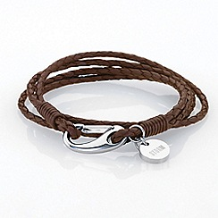 STORM London - Brown jax wrap bracelet