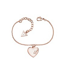 Guess - Rose gold heart bracelet