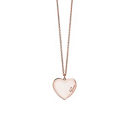 Guess - Rose gold heart necklace