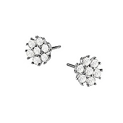 Guess - Silver diamante stud earrings