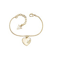 Guess - Gold heart bracelet