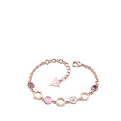 Guess - Rose gold four stone bracelet