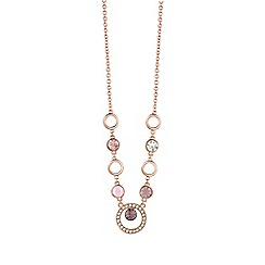 Guess - Rose gold circle necklace
